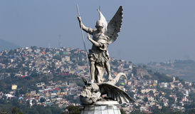 Saint Michael archangel sculpture Royalty Free Stock Photos
