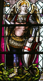 Saint Michael the Archangel - Stained Glass Royalty Free Stock Images