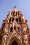 Saint Michael Archangel temple in Guanajuato Mexico Michael Arch. SAN MIGUEL DE ALLENDE, GUANAJUATO / MEXICO - 06 22 2017: Traditional Saint Michael Archangel Royalty Free Stock Images