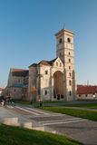 Saint Michael Cathedral, Alba Iulia. Built in 1009, the Saint Michael Cathcolic Cathedral of Alba-Iulia is the oldest cathedral in Romania. Shot on a sunny day stock photo