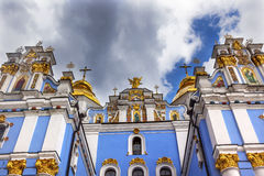 Saint Michael Cathedral Spires Kiev Ukraine Royalty Free Stock Photography