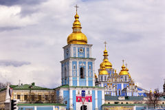 Saint Michael Cathedral Spires Tower Kiev Ukraine Stock Image