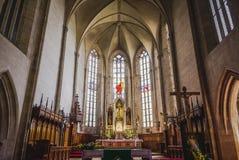 Saint Michael Catholic Gothic Church in Cluj Napoca Stock Image