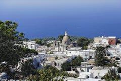 Saint Michael Church in Anacapri. A panoramic view of Anacapri, a village in the island of Capri Stock Photo