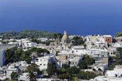 Saint Michael Church in Anacapri. A panoramic view of Anacapri, a village in the island of Capri Royalty Free Stock Image
