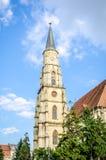 Saint Michael Church Tower in Cluj-Napoca Stock Photo