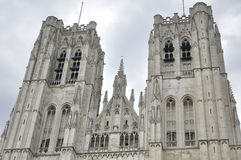 Saint Michael and Gudula Cathedral in Brussels Royalty Free Stock Images