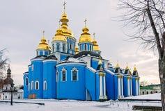 Saint Michael of Kiev in Winter Royalty Free Stock Image