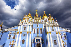 Saint Michael Monastery Cathedral Spires Kiev Ukraine Royalty Free Stock Photos