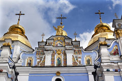 Saint Michael Monastery Cathedral Spires Kiev Ukraine Royalty Free Stock Image