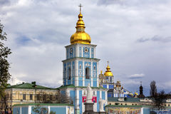 Saint Michael Monastery Cathedral Spires Tower Kiev Ukraine Royalty Free Stock Image