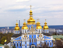 Saint Michael Monastery Cathedral Spires Tower Kiev Ukraine Stock Images
