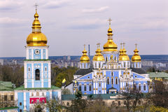Saint Michael Monastery Cathedral Spires Tower Kiev Ukraine Stock Photography