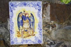 Saint Michael Mosaic Royalty Free Stock Photos