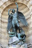 Saint Michael in paris Stock Photography