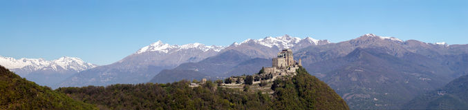 Saint Michael`s Abbey of the Val di Susa, Torino, Italy Stock Images
