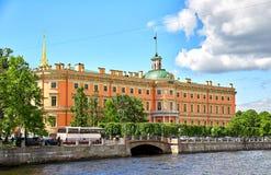 Saint Michael`s Castle, St.Petersburg Stock Images