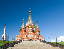 Saint Michael's Cathedral in Izhevsk Royalty Free Stock Photography