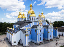 Saint Michael`s Golden-Domed Cathedral in Kyiv Stock Images
