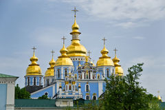 Saint Michael`s Golden-Domed Monastery Kiev Royalty Free Stock Photos
