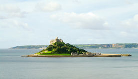 Saint Michael's Mount, Cornwall. View of Saint Michael's Mount near Marazion, Cornwall Royalty Free Stock Photography