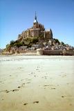 Saint Michael's Mount in low tide Stock Image