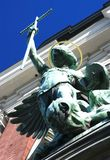 Saint Michael's  statue (Hamburg, Germany) Royalty Free Stock Photography