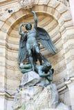 Saint Michael's statue, Paris Stock Image
