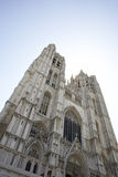Saint Michael and St Gudula Cathedral in Brussels Stock Photos