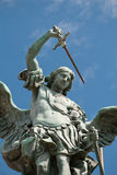 Saint Michael statue on the Castel Sant`Angelo Royalty Free Stock Photo