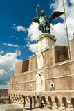 Saint Michael statue, Castel Sant'Angelo, Rome Stock Images