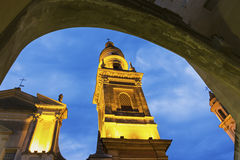Saint-Michel Archange Basilica, Menton, France Stock Image