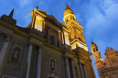 Saint-Michel Archange Basilica, Menton, France Stock Photos