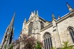 The Saint-Michel Basilica in Bordeaux, France. Facade of The Saint-Michel Basilica in Bordeaux, it was listed as a UNESCO World Heritage Site, as an intermediate Royalty Free Stock Images