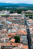 Saint Michel cathedral and Carcassonne new city view Stock Image
