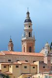 Saint-Michel church in Menton. French riviera Royalty Free Stock Photography
