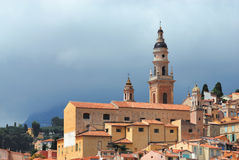 Saint-Michel church in Menton. French riviera Royalty Free Stock Photos