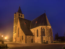 Saint Michel church at twilight, Ravels, Flanders, Belgium Royalty Free Stock Image
