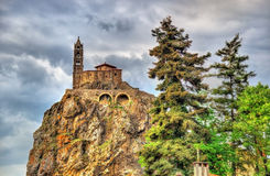 Saint Michel d'Aiguilhe, a chapel in Le Puy-en-Velay Royalty Free Stock Images