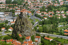 Saint Michel d'Aiguilhe, Le Puy-en-Velay, Frankrijk Royalty-vrije Stock Foto