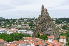 Saint-Michel d&#x27 ; Chapelle d'Aiguilhe Photographie stock libre de droits
