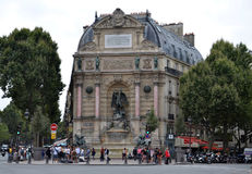 Saint-Michel de Fontaine, Paris Image libre de droits
