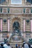 Saint-Michel de la fuente, París, Francia. Fotos de archivo
