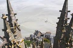 Saint Michel de la montaña de las torres Foto de archivo libre de regalías