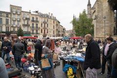 Saint-Michel de Marchè, mercado do ` s do St Michel, Bordéus Foto de Stock Royalty Free
