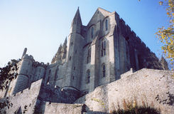Saint Michel de Mont em Normandy, France fotografia de stock