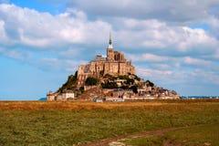 Saint Michel de Mont, Francia, en la hora solar fotografía de archivo libre de regalías