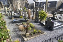 SAINT-MICHEL DI MONT, FRANCIA - 27 MARZO 2016: Cimitero del Egli Fotografia Stock