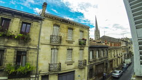Saint Michel district in Bordeaux city, France. Time Lapse stock video