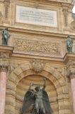 Saint-Michel fontanna Obraz Royalty Free